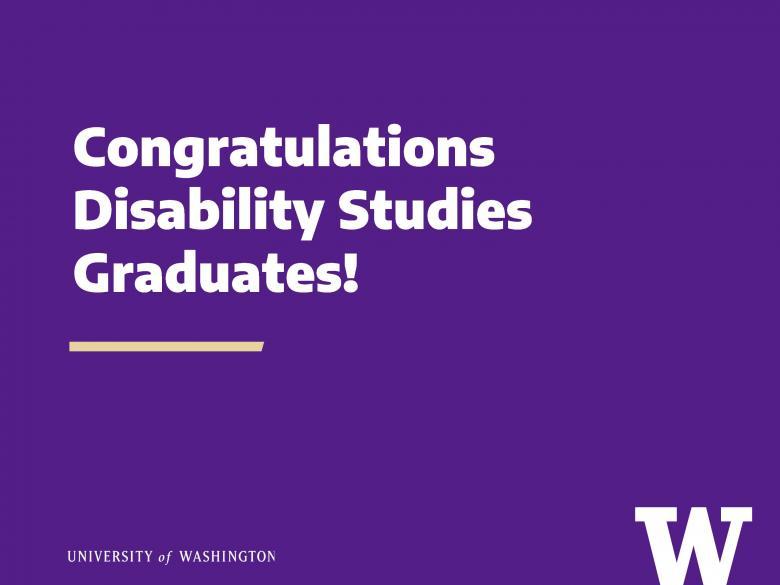 Congratulations Disability Studies Graduates!